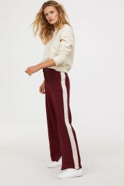 Side stripe trousers at H&M