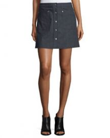 Siggy Denim Mini Skirt  Indigo at Neiman Marcus