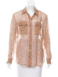Signature Python Chiffon Blouse by Equipment at The Real Real