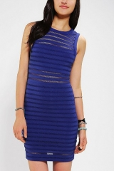 Silence and Noise Illusion Stripe Bodycon Dress at Urban Outfitters