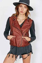 Silence and Noise Leather Jacket at Urban Outfitters