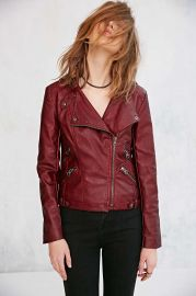 Silence and Noise Leather Moto Jacket at Urban Outfitters