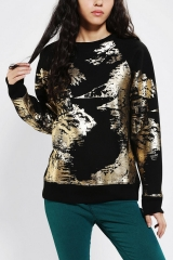 Silence and Noise Scenic Foil Sweatshirt at Urban Outfitters