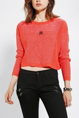 Silence and Noise Stitch Cropped Sweater at Urban Outfitters