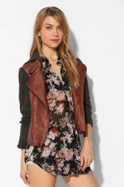 Silence and Noise Vegan Leather Jacket at Urban Outfitters