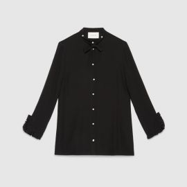 Silk Button Down Shirt at Gucci