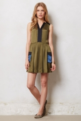 Silk Cargo Dress at Anthropologie