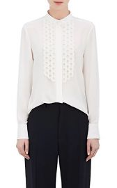 Silk Crepe De Chine Scalloped Blouse by Chloe at Barneys