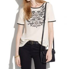 Silk Ivy Cutout Tee at Madewell