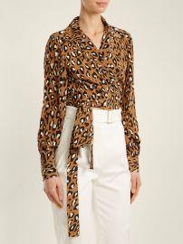 Silk Leopard-Print Blouse at Saks Fifth Avenue