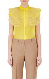 Silk Ruffled Organza Blouse by Givenchy at Barneys Warehouse