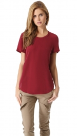 Silk Side Seam Tee by Phillip Lim at Shopbop