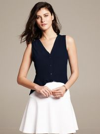 Silk Sleeveless Blouse at Banana Republic