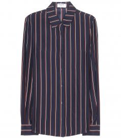Silk Striped Shirt at My Theresa