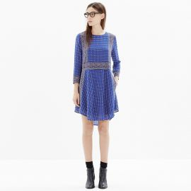 Silk Tee Dress in Ascot Grid at Madewell