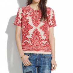 Silk Tee in Paisley Loop at Madewell