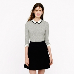 Silk Tipped Collar Top at J. Crew