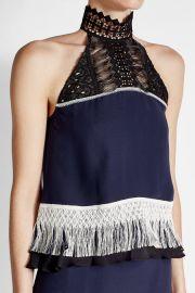 Silk Top with Fringing by Jonathan Simkhai at Stylebop
