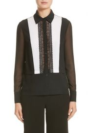 Silk Tuxedo Blouse by Yigal Azrouel at Nordstrom Rack