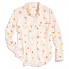 Silk boyshirt in pansy at Madewell