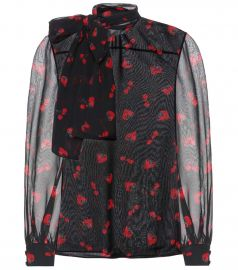 Silk georgette blouse at Mytheresa