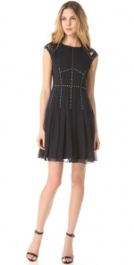 Silk lace T dress by Rebecca Taylor at Shopbop