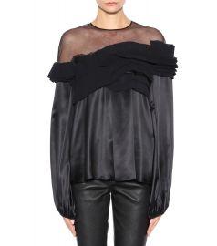 Silk-satin top by Givenchy at My Theresa