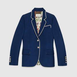 Silk wool jacket at Gucci