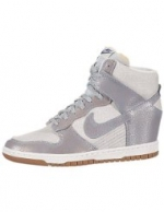 Silver sky high top sneakers by Nike at Amazon