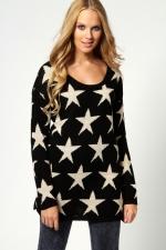 Similar black star sweater at Boohoo