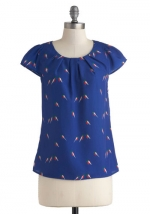Similar blue blouse at Modcloth