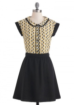 Similar contrast dress with collar at Modcloth