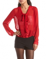 Similar red blouse at Charlotte Russe