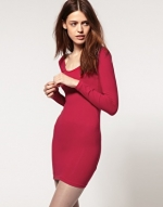 Similar red dress from ASOS at Asos