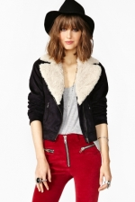 Similar shearling jacket at Nasty Gal at Nasty Gal