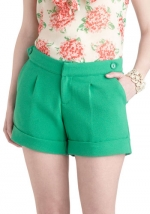 Similar shorts in green at Modcloth
