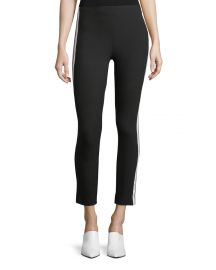 Simone Side-Stripe Skinny Pants at Neiman Marcus