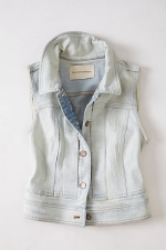 Simone Denim Vest at Anthropologie