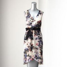 Simply Vera Vera Wang Floral Surplice Dress at Kohls