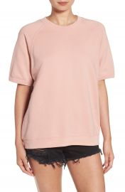 Sincerely Jules  Cara  Short Sleeve Sweatshirt in Rose at Nordstrom
