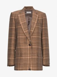 Single Breasted Check Jacket by Dries Van Noten at Browns Fashion