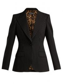 Single-breasted pinstripe wool blazer at Matches