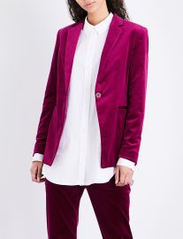 Single-breasted velvet jacket by Theory at Selfridges