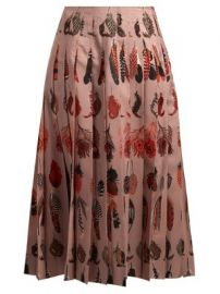 Sirocco feather-print pleated skirt at Matches