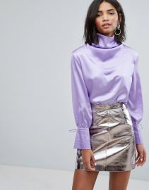 Sister Jane Drapey Blouse In Satin by ASOS at ASOS
