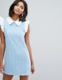 Sister Jane Mini Dress With Collar In Lace at Asos