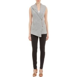 Skin Asymmetric Zip-Front Vest at Barneys