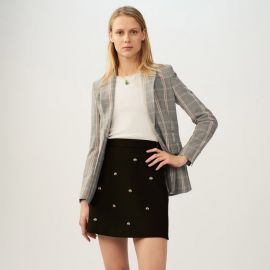 Skirt with Embroidered Bees by Maje at Maje