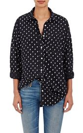 Skull-Print Silk Shirt at Barneys