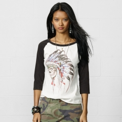 Skull Tattoo Baseball Tee at Ralph Lauren